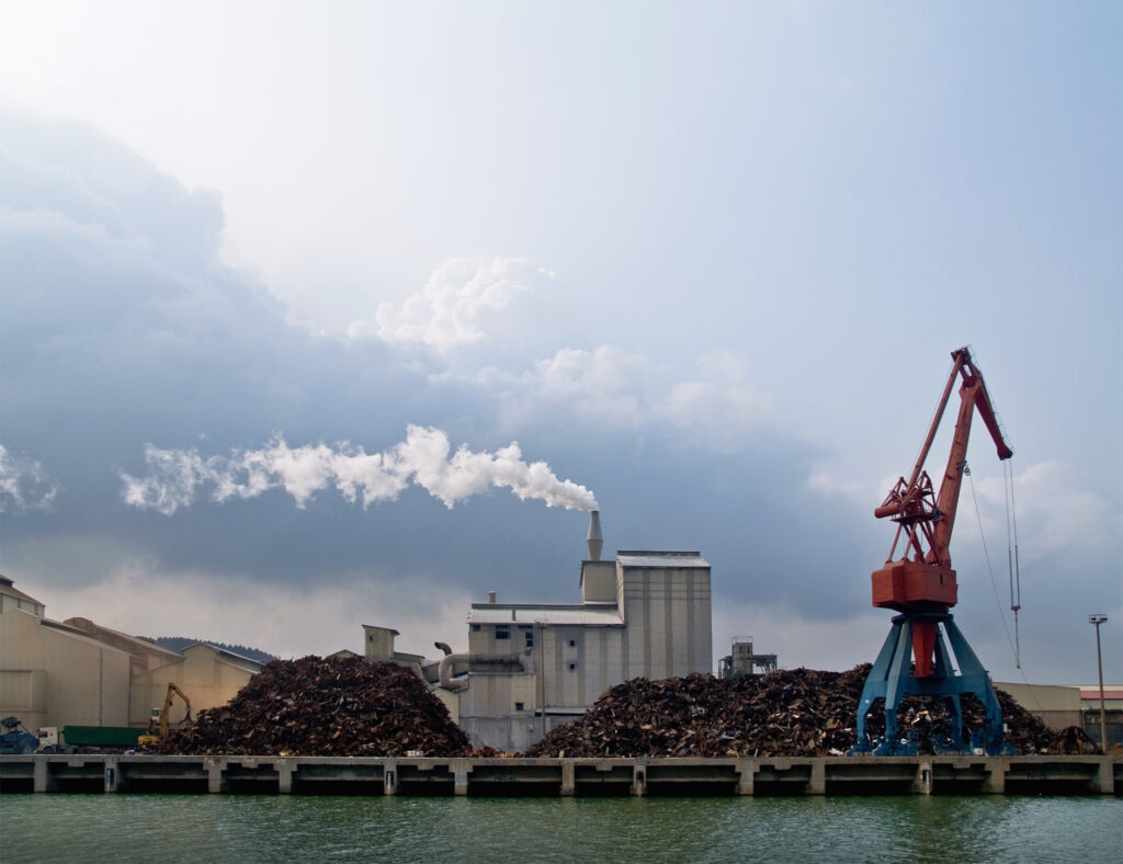ゴミ処理による燃焼で二酸化炭素が排出される
